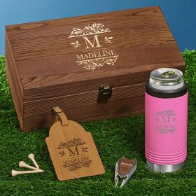 Savannah Personalized Pink Can Cooler Golf Gifts for Women