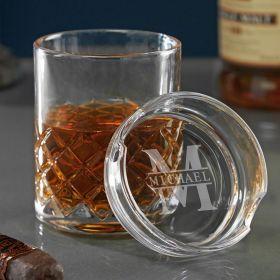 Oakmont Personalized Sterling Ashtray Whiskey Glass