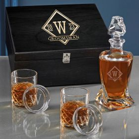 Drake Personalized Twist Decanter Bourbon Gift Set