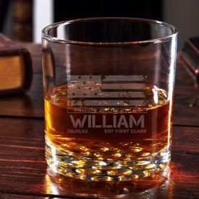 American Heroes Personalized Buckman Rocks Glass