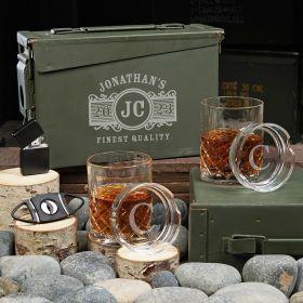 Marquee Custom 30 Cal Sterling Whiskey Gift Basket
