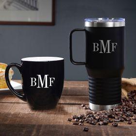 Classic Monogram Custom Coffee Gift Set