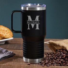 Oakmont Personalized Travel Mug with Handle