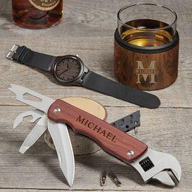 Oakmont Custom Whiskey Kuzie Gift Set for Him