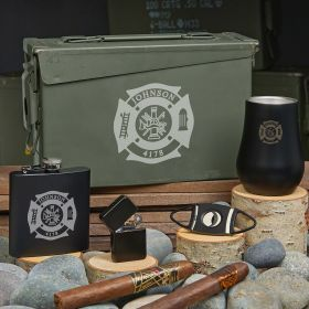 Fire & Rescue Custom 30 Cal Gifts for Firefighters