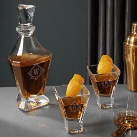 Drake Personalized Bishop Whiskey Decanter Set