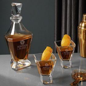 Wax Seal Engraved Bishop Cocktail Gift Set