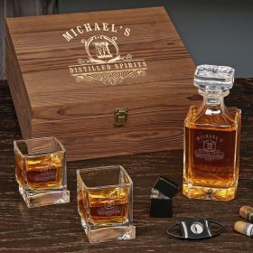 Carraway Custom Carson Decanter Set of Gifts for Whiskey Lovers