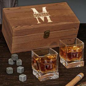 Oakmont Yorke Engraved Whiskey Gift Set