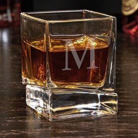 Single Initial Personalized Yorke Whiskey Glass