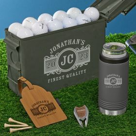 Marquee Engraved 30 Cal Ammo Can Golf Gift Set