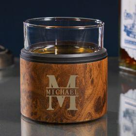 Oakmont Custom Kuzie with Whiskey Glass