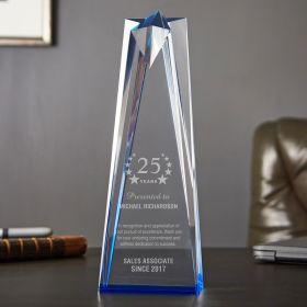 Medium Sculpted Star Personalized Service Award