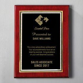 Medium Rosewood Personalized Appreciation Plaque