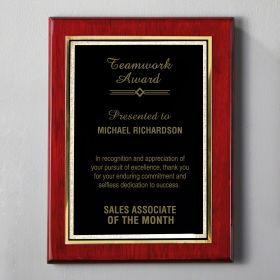 Large Rosewood Custom Plaque