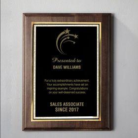Small Walnut Custom Plaque