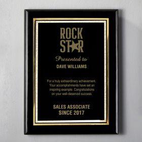 Medium Black Personalized Recognition Plaque