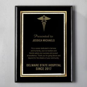 Medium Black Engraved Doctor Plaque