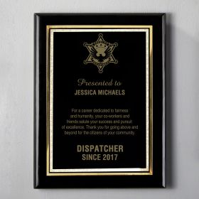Large Black Personalized Sheriff Wooden Plaque