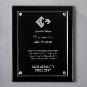 Small Black Floating Acrylic Custom Award Plaque