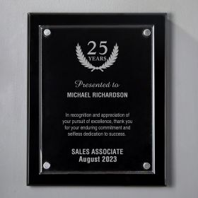 Medium Black Floating Acrylic Engraved Anniversary Plaque