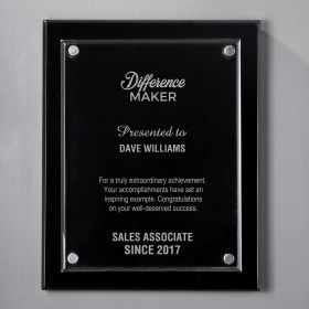 Large Black Floating Acrylic Personalized Recognition Plaque