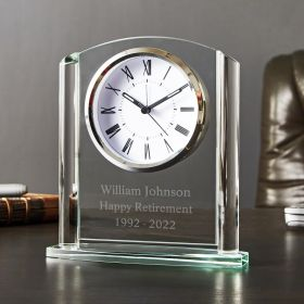 Arch Glass Personalized Desk Clock