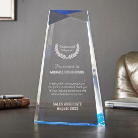 Medium Blue Facet Customized Award