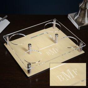 Classic Monogram Acrylic Custom Presentation Tray