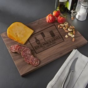 BBQ & Beer Custom Walnut Cutting Board - Small