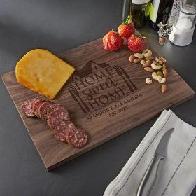 Home Sweet Home Walnut Personalized Cutting Board - Standard