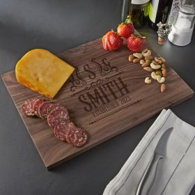 Canterbury Personalized Walnut Wooden Cutting Board - Standard