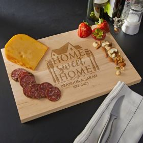 Home Sweet Home Engraved Maple Wood Cutting Board - Standard