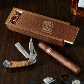Ultra Rare Dual Blade Knife Gift Set with Custom Box