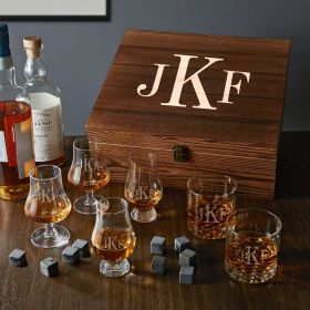 Classic Monogram Engraved Ultimate Gifts for Whiskey Lovers