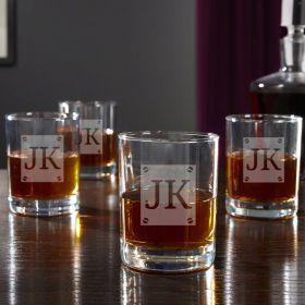 Screws & Scotch Custom Cocktail Glasses, Set of 4