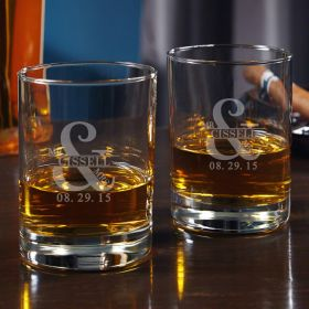 Love & Marriage Custom Eastham Whiskey Glass Set