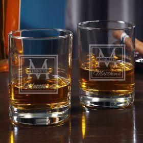 Oakhill Engraved Eastham Rocks Glasses, Set of 2