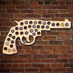 Classic Revolver Beer Cap Map