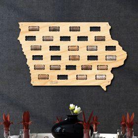 Iowa Wine Cork Map