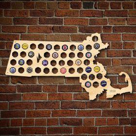 Massachusetts Beer Cap Map
