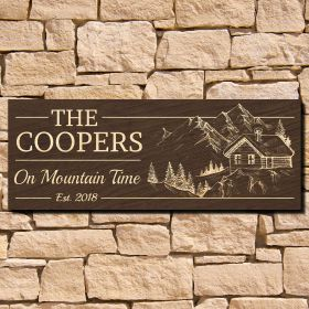On Mountain Time Custom Family Sign (Signature Series)