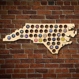 North Carolina Beer Cap Map