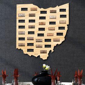 Ohio Wine Cork Map