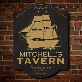 Shipyard Tavern Wooden Custom Sign