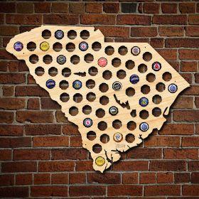 South Carolina Beer Cap Map