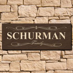 Curie Home Decor Family Sign (Signature Series)