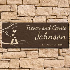Free as Birds Custom Sign for Couples