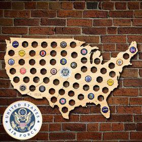 US Air Force Beer Cap Map of America