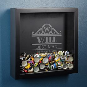 Rockefeller Personalized Beer Cap Shadow Box